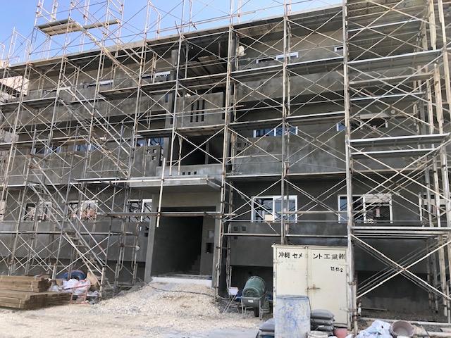 豊見城市与根の賃貸アパート、来年2月完成予定